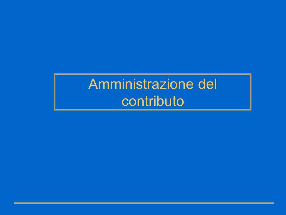 Amministrazione del contributo