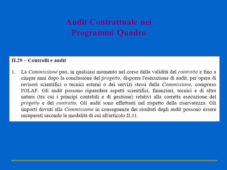Audit Contrattuale nei Programmi Quadro