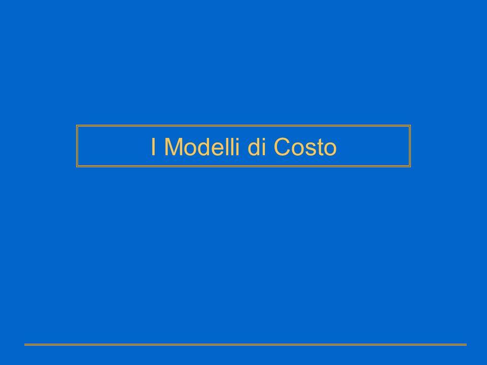 I Modelli di Costo