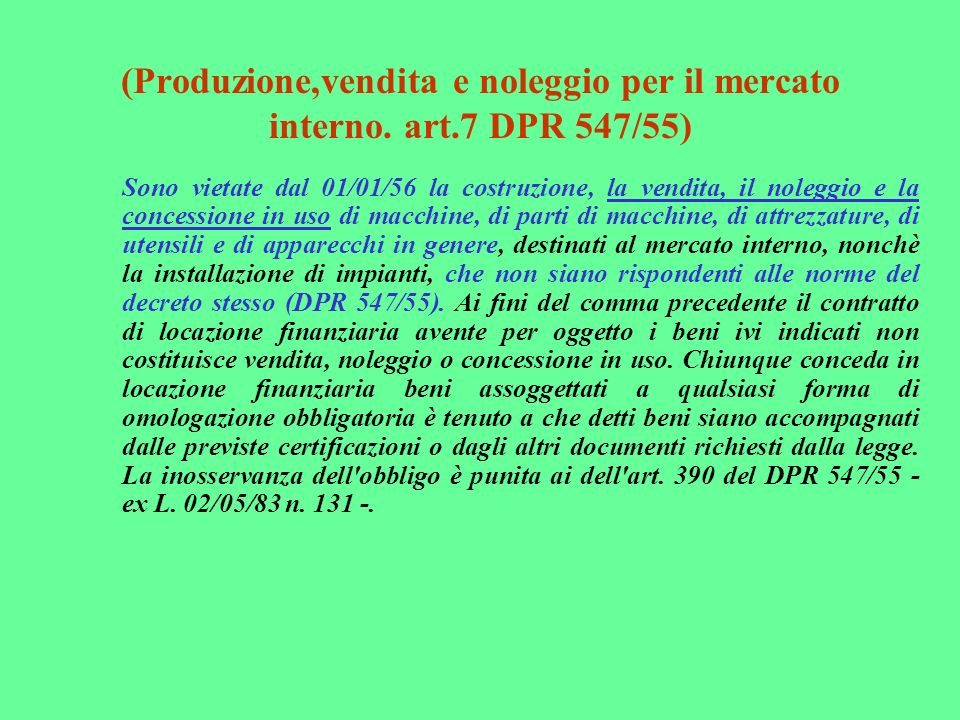 (Procedura di certificazione.art.4 comma 1 lett. c - D.P.R.