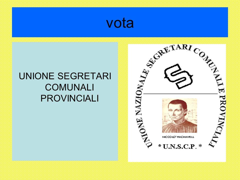 vota UNIONE SEGRETARI COMUNALI PROVINCIALI