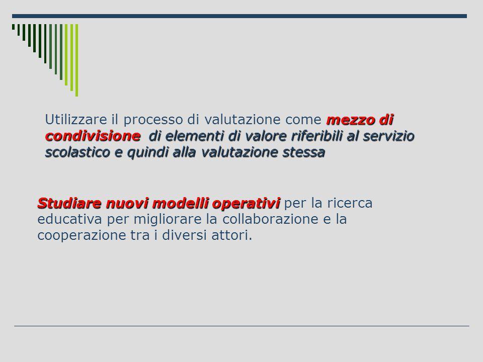 Studiare nuovi modelli operativi Studiare nuovi modelli operativi per la ricerca educativa per migliorare la collaborazione e la cooperazione tra i diversi attori.