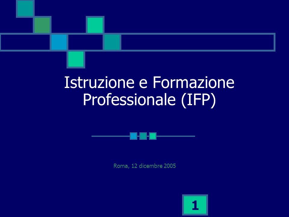 1 Istruzione e Formazione Professionale (IFP) Roma, 12 dicembre 2005