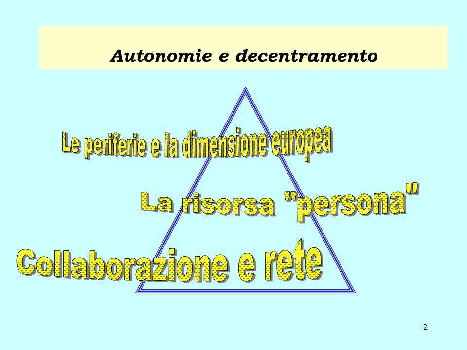 2 Autonomie e decentramento