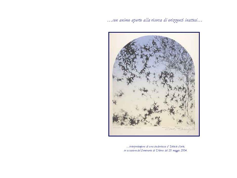 …con animo aperto alla ricerca di orizzonti inattesi… …interpretazione di una studentessa d Istituto darte, in occasione del Seminario di Urbino del 20 maggio 2004.