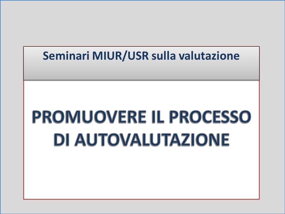 Seminari MIUR/USR sulla valutazione