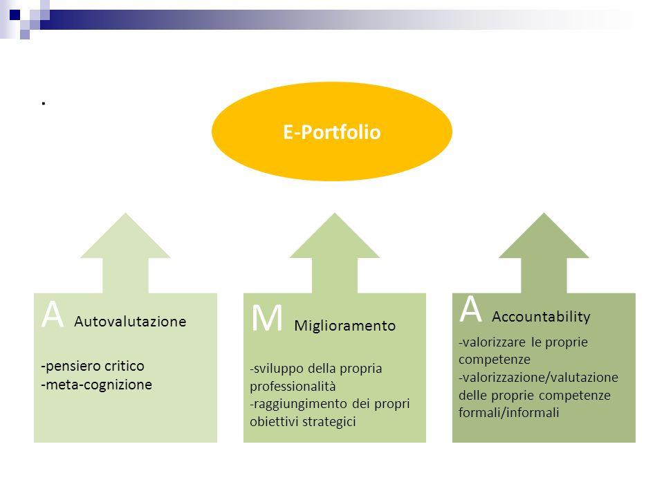 . A Autovalutazione -pensiero critico -meta-cognizione M Miglioramento -sviluppo della propria professionalità -raggiungimento dei propri obiettivi st
