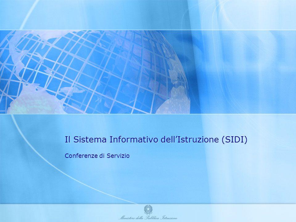 Il Sistema Informativo dellIstruzione (SIDI) Conferenze di Servizio