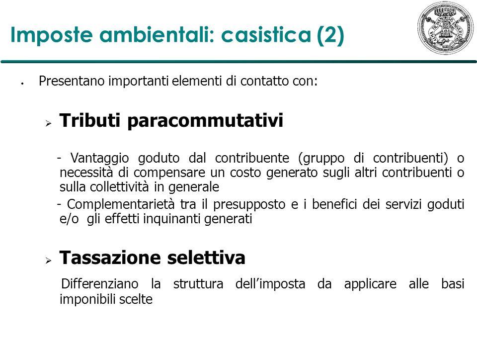 Il quadro nazionale: la controriforma fiscale verde in Italia (1) Riforme fiscali verdi Contro-riforme fiscali verdi