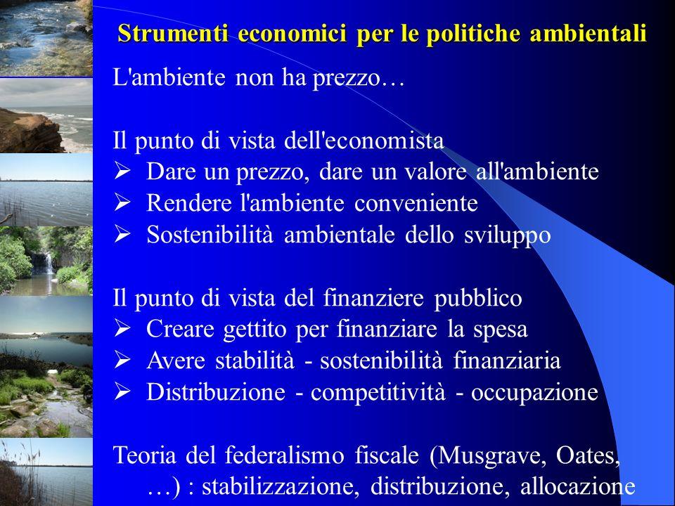 PROSPETTIVE ITALIANE 1.Chi non inquina … paga meno.