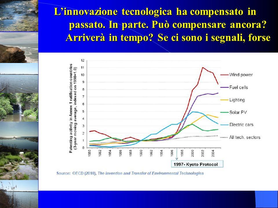 Linnovazione tecnologica ha compensato in passato. In parte. Può compensare ancora? Arriverà in tempo? Se ci sono i segnali, forse