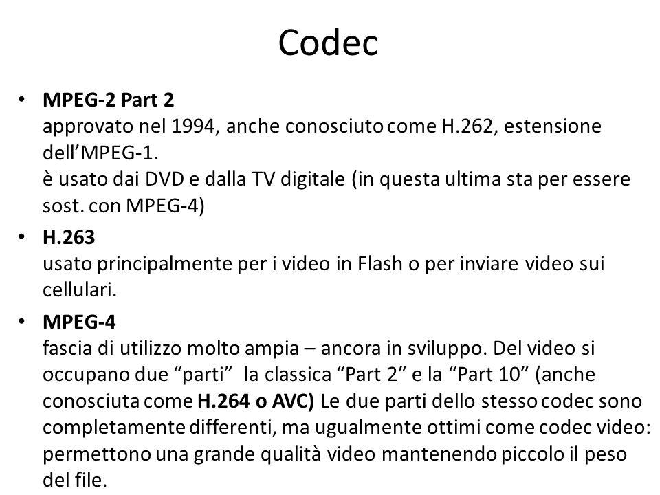 Codec MPEG-2 Part 2 approvato nel 1994, anche conosciuto come H.262, estensione dellMPEG-1.