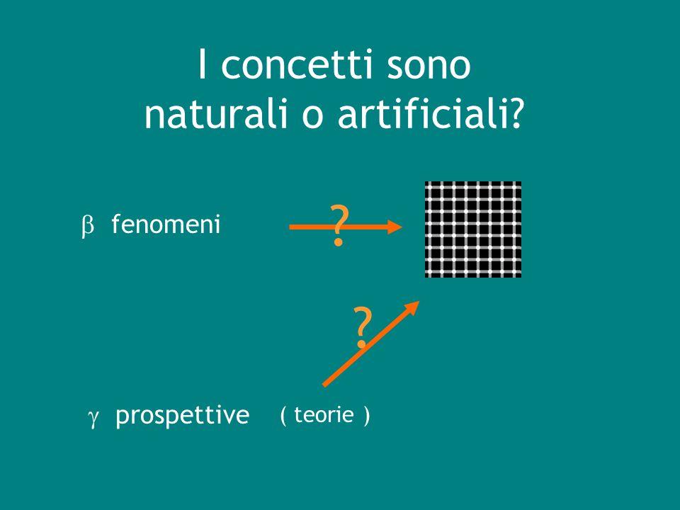 I concetti sono naturali o artificiali? fenomeni prospettive ( teorie ) ? ?