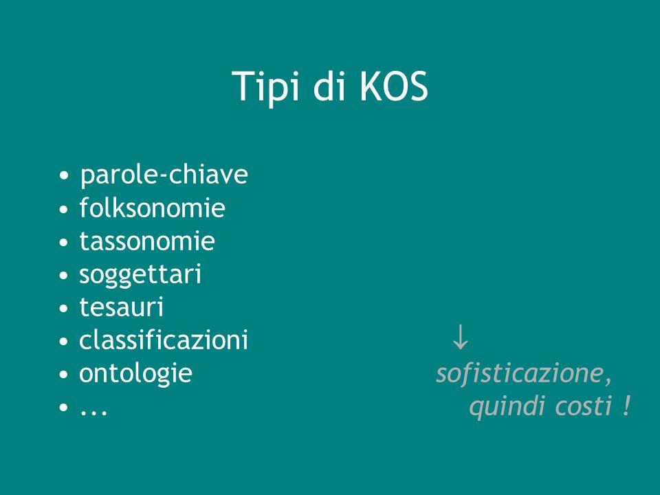 Che centrano terminologia e KO ? ?