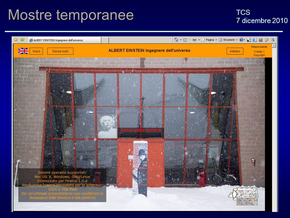 TCS 7 dicembre 2010 Mostre temporanee