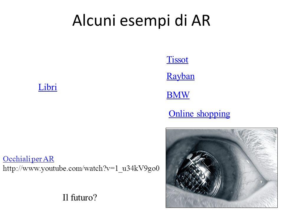 Alcuni esempi di AR Tissot BMW Rayban Il futuro? Occhiali per AR http://www.youtube.com/watch?v=1_u34kV9go0 Online shopping Libri