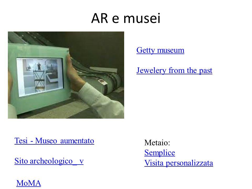 AR e musei Getty museum Jewelery from the past Tesi - Museo aumentato Sito archeologico_ v MoMA Metaio: Semplice Visita personalizzata