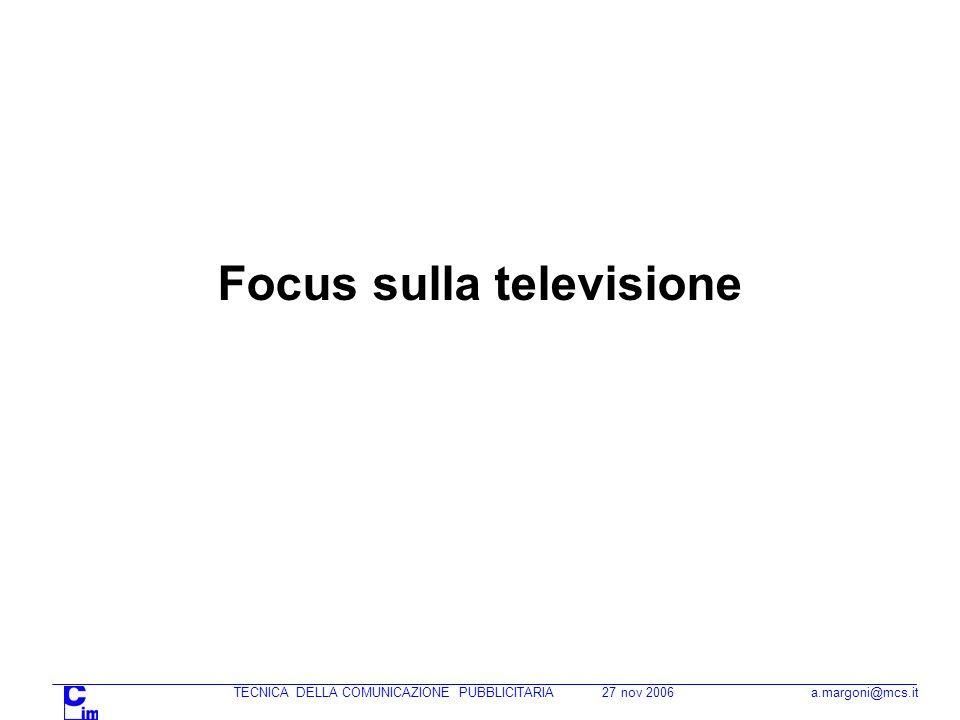 Focus sulla televisione