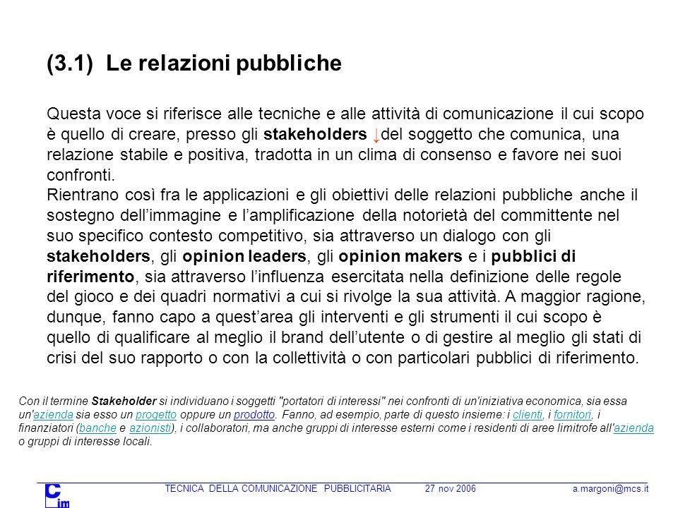 TECNICA DELLA COMUNICAZIONE PUBBLICITARIA 27 nov 2006 a.margoni@mcs.it Note sui fatturati della stampa