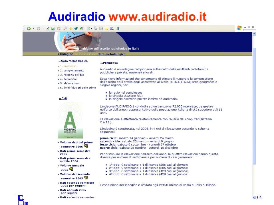 TECNICA DELLA COMUNICAZIONE PUBBLICITARIA 2006/2007 a.margoni@mcs.it Audiposter www.audiposter.it