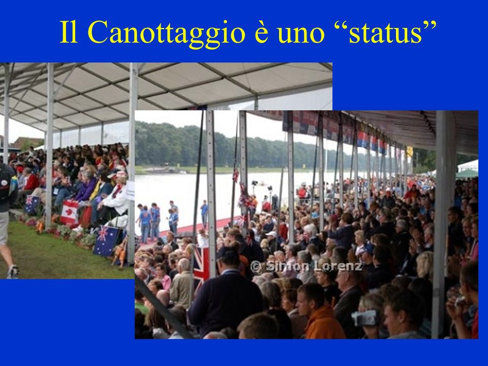 COPPIA E PUNTA Lo sport del canottaggio è diviso in due distinte categorie: voga di coppia e voga di punta.