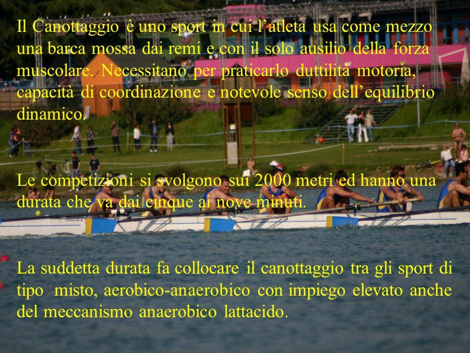 Il Canottaggio è uno sport in cui latleta usa come mezzo una barca mossa dai remi e con il solo ausilio della forza muscolare. Necessitano per pratica