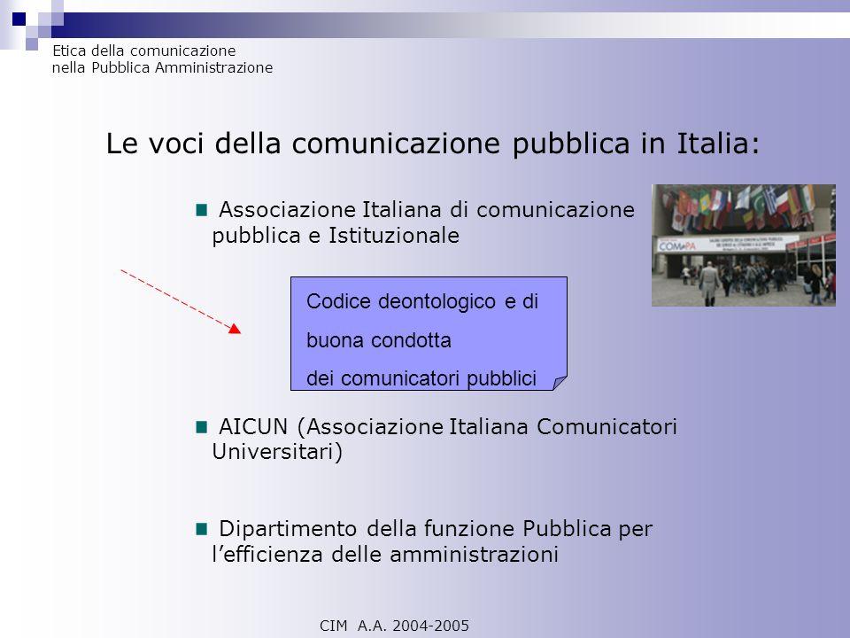 Associazione Italiana di comunicazione pubblica e Istituzionale AICUN (Associazione Italiana Comunicatori Universitari) Dipartimento della funzione Pu