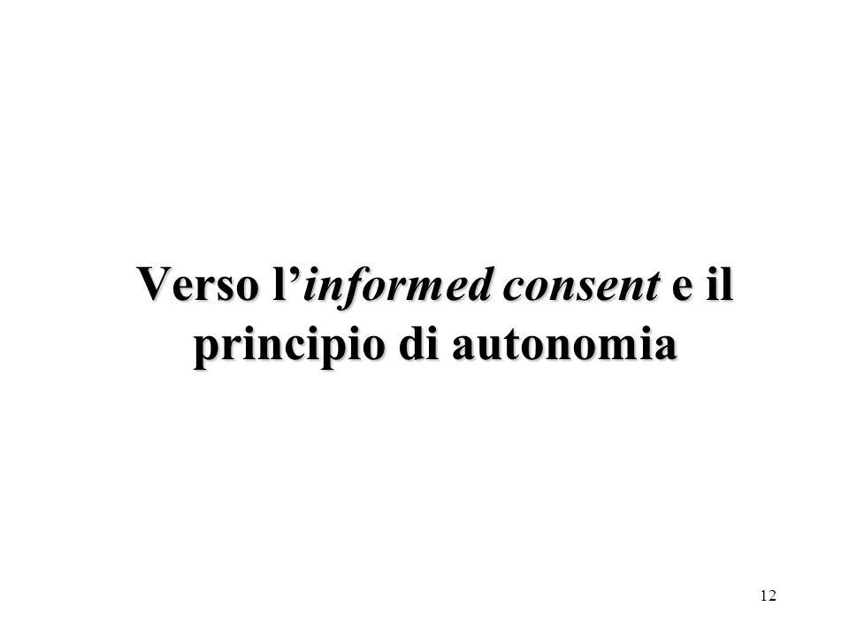 12 Verso linformed consent e il principio di autonomia
