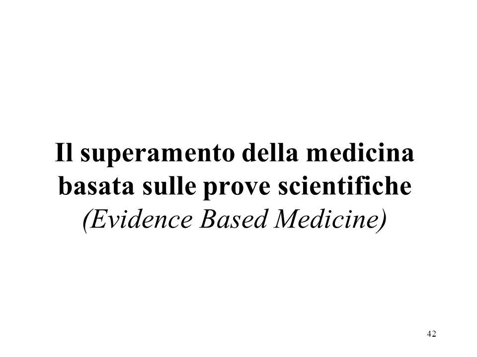 42 Il superamento della medicina basata sulle prove scientifiche (Evidence Based Medicine)