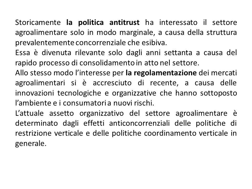 In Italia fino al 1993, per molti prodotti alimentari, tra cui pane pasta e latte, vigeva un sistema di prezzi amministrati.