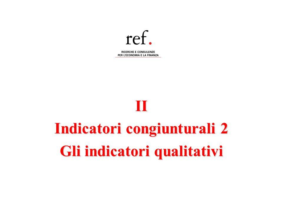 II Indicatori congiunturali 2 Gli indicatori qualitativi
