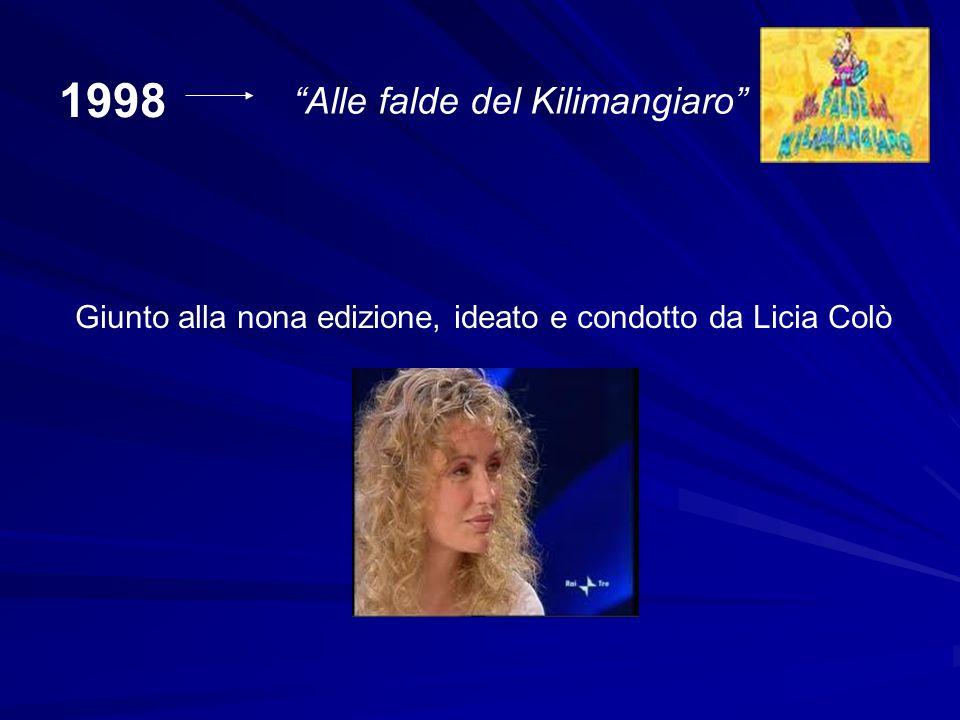 1998 Alle falde del Kilimangiaro Giunto alla nona edizione, ideato e condotto da Licia Colò