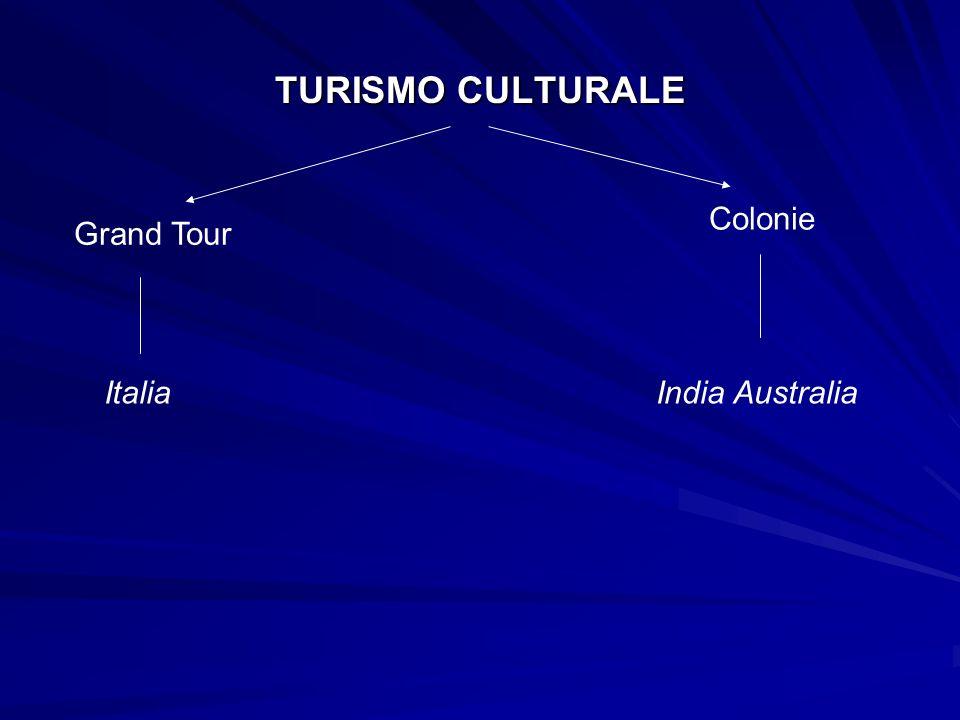 TURISMO CULTURALE Grand Tour Colonie ItaliaIndia Australia