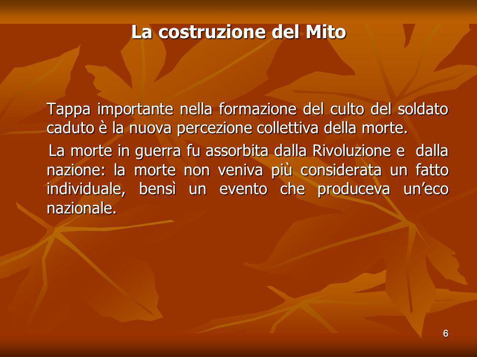 7 La costruzione del Mito Un chiaro esempio della nuova concezione di morte, in cui la Natura benefica e consolatrice giocava un ruolo cruciale, è dato dal Pére Lachaise di Parigi.