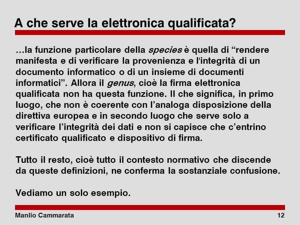 Manlio Cammarata11 Elettronica qualificata o digitale.