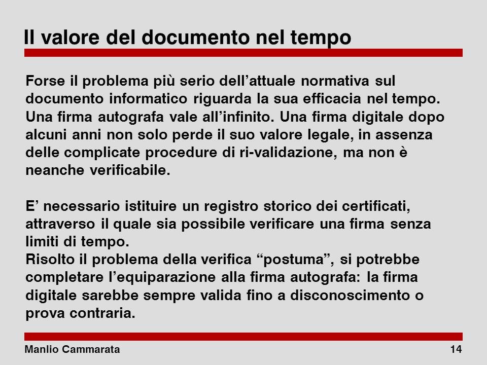 Manlio Cammarata13 Antinomia CAD, art. 45. Valore giuridico della trasmissione 1.