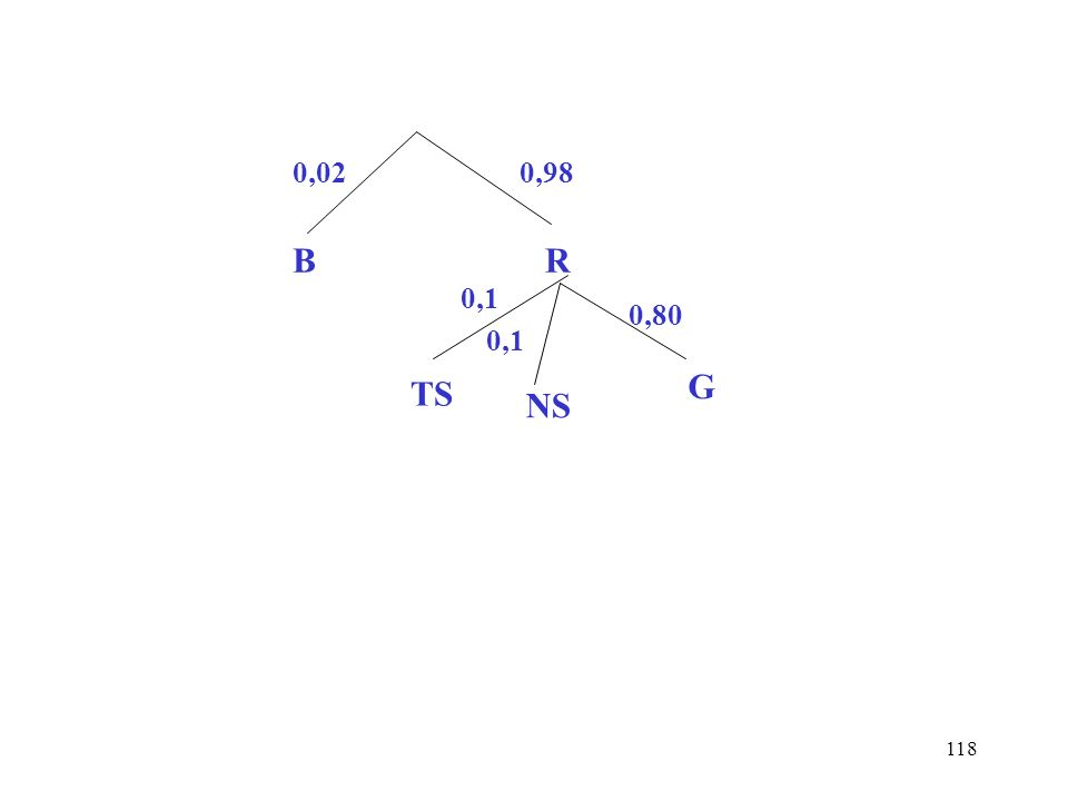 118 0,02 B 0,98 R 0,1 0,80 TS NS G
