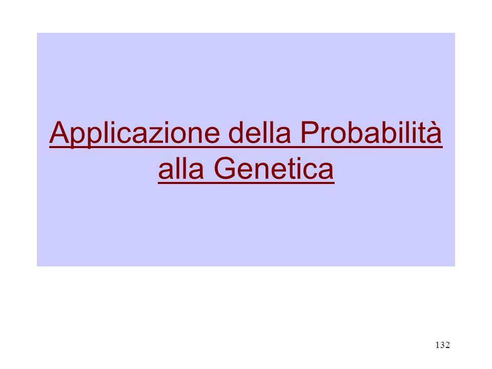 132 Applicazione della Probabilità alla Genetica
