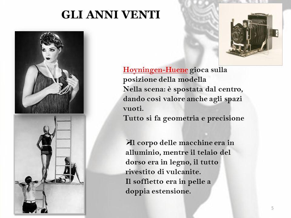 5 GLI ANNI VENTI Hoyningen-Huene gioca sulla posizione della modella Nella scena: è spostata dal centro, dando così valore anche agli spazi vuoti. Tut