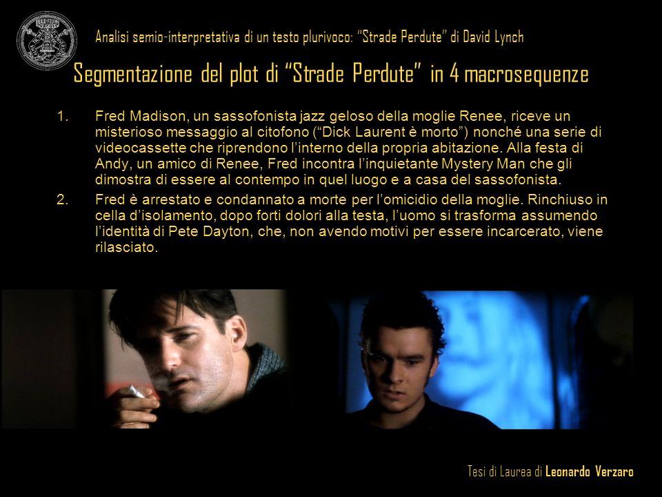Tesi di Laurea di Leonardo Verzaro Analisi semio-interpretativa di un testo plurivoco: Strade Perdute di David Lynch 3.