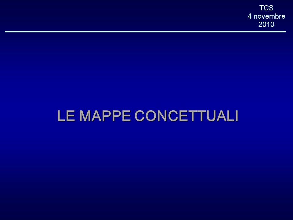 TCS 4 novembre 2010 LE MAPPE CONCETTUALI