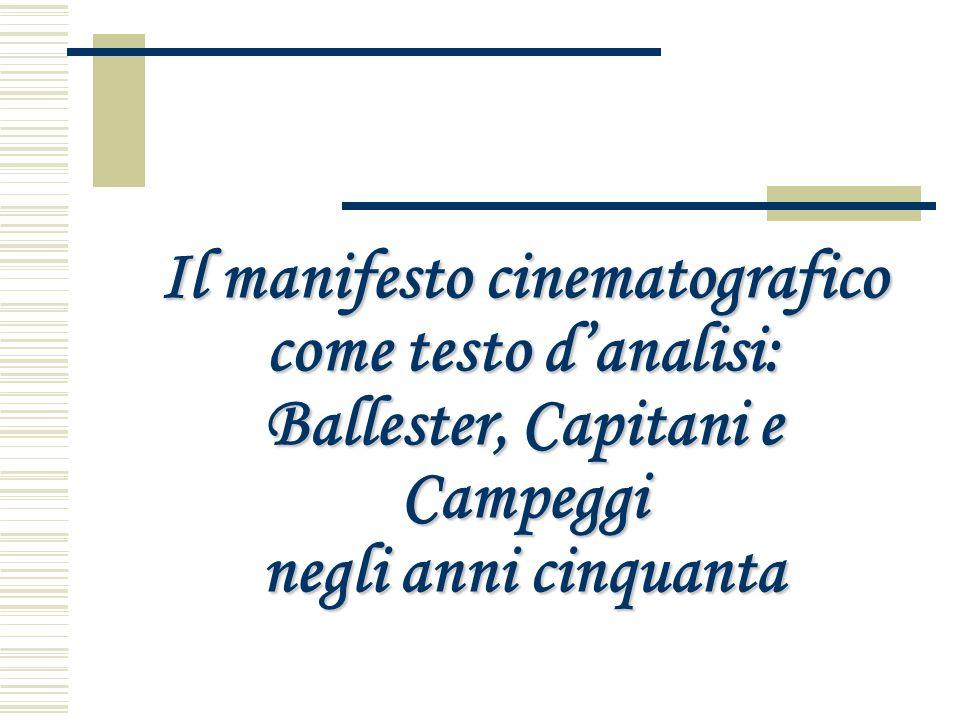 Il manifesto cinematografico come testo danalisi: Ballester, Capitani e Campeggi negli anni cinquanta