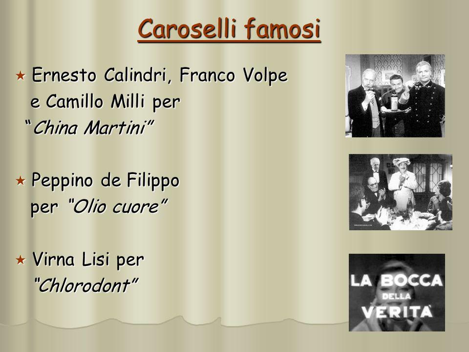 5 Caroselli famosi Ernesto Calindri, Franco Volpe Ernesto Calindri, Franco Volpe e Camillo Milli per e Camillo Milli per China Martini China Martini P