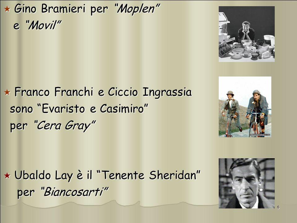6 Gino Bramieri per Moplen Gino Bramieri per Moplen e Movil e Movil Franco Franchi e Ciccio Ingrassia Franco Franchi e Ciccio Ingrassia sono Evaristo
