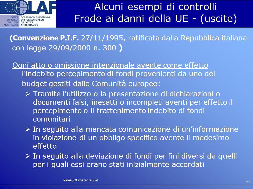 Pavia,20 marzo 2009 P 30 Procedura attiva di consegna Emissione Art.