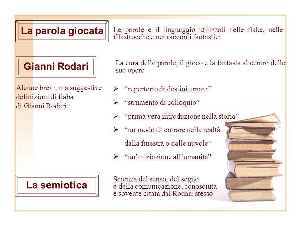 Alcune brevi, ma suggestive definizioni di fiaba di Gianni Rodari : repertorio di destini umani strumento di colloquio prima vera introduzione nella s