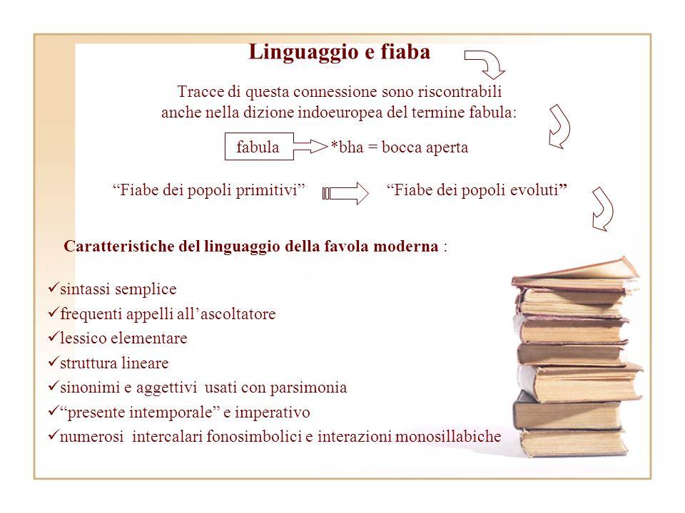 Linguaggio e fiaba Tracce di questa connessione sono riscontrabili anche nella dizione indoeuropea del termine fabula: sintassi semplice frequenti app