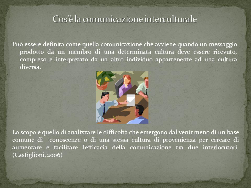 Può essere definita come quella comunicazione che avviene quando un messaggio prodotto da un membro di una determinata cultura deve essere ricevuto, c