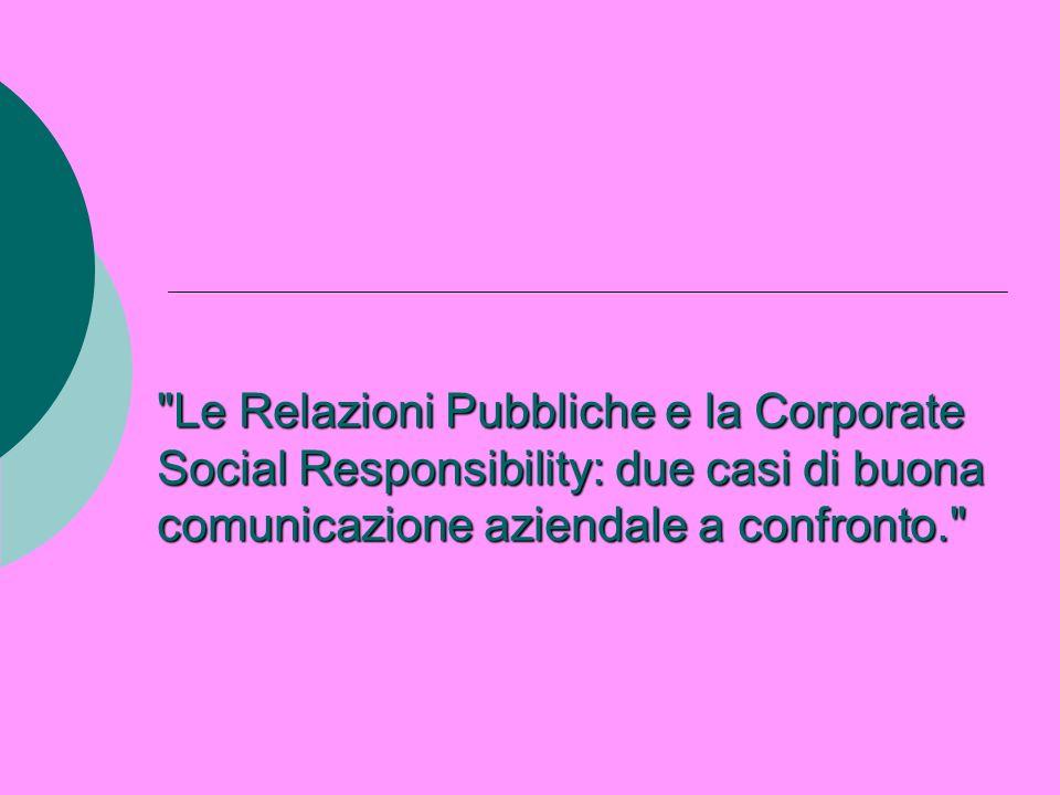 Le RP in Italia Invece in Italia le Relazioni Pubbliche cominciarono ad assumere un ruolo professionale distinto e a consolidarsi come disciplina solo a partire dagli anni Settanta.