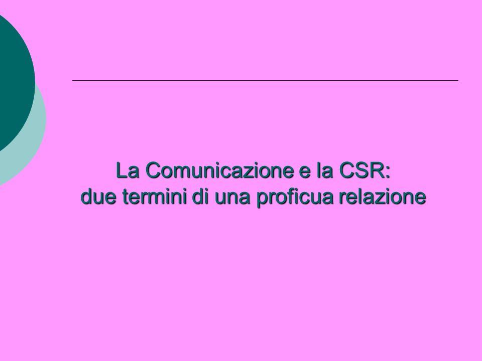 La Comunicazione e la CSR: due termini di una proficua relazione